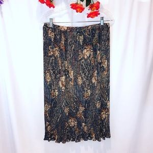 Vintage JH collectibles floral paisley maxi skirt